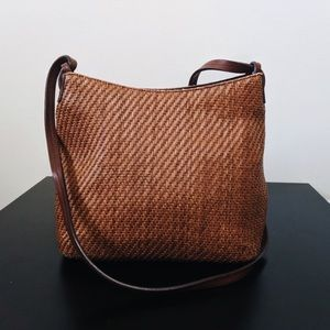 Vintage Woven Fossil Purse